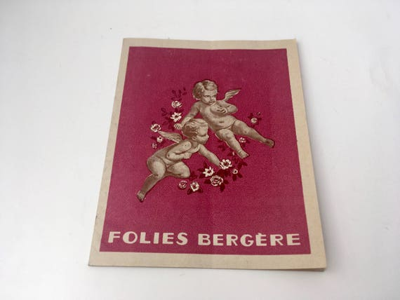 Vintage Folies Bergère Program