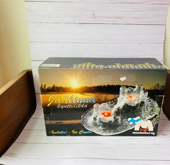 MCM Muurla Finland Ice Castle Candle Holder--Dansk--MCM Home Decor