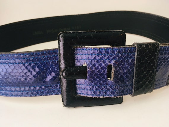 Vintage Yves Saint Laurent Snakeskin Belt