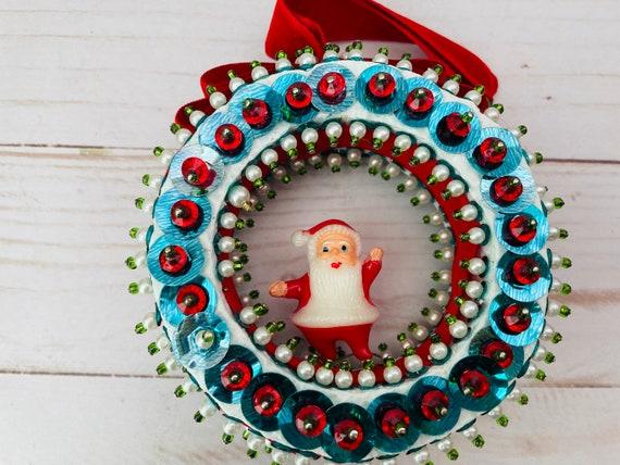Vintage MCM Christmas Ornament--Santa Ornament