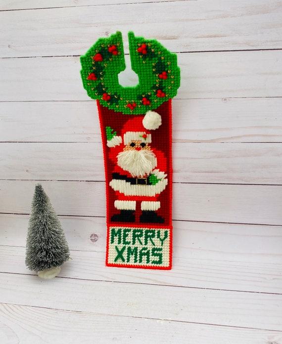 Vintage Santa Door Hanger--Santa Decor