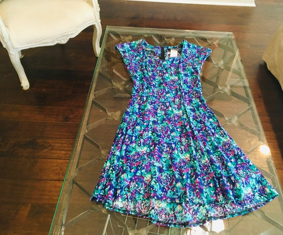 Vintage 90s All That Jazz Dress Size XS