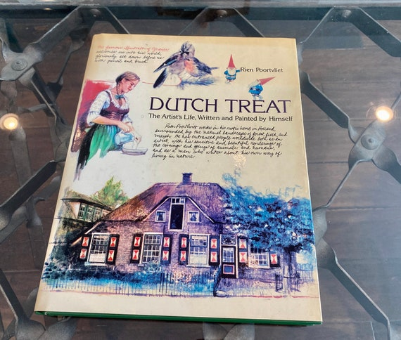 1981 Dutch Treat Book By Rien Poortvliet --Gnome Book