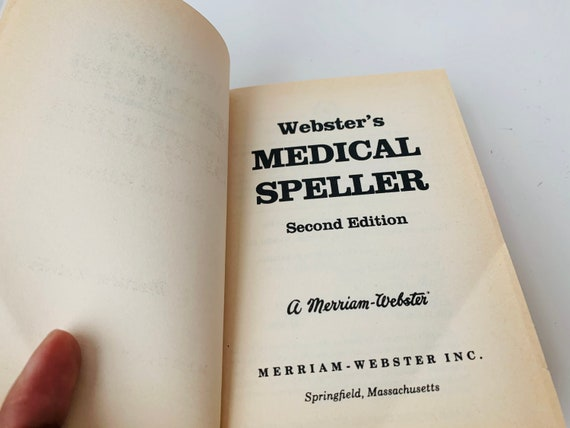 Webster's Medical Speller Dictionary