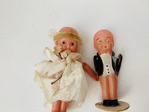 Wedding Cake Topper - Kewpie Bride & Groom - Vintage