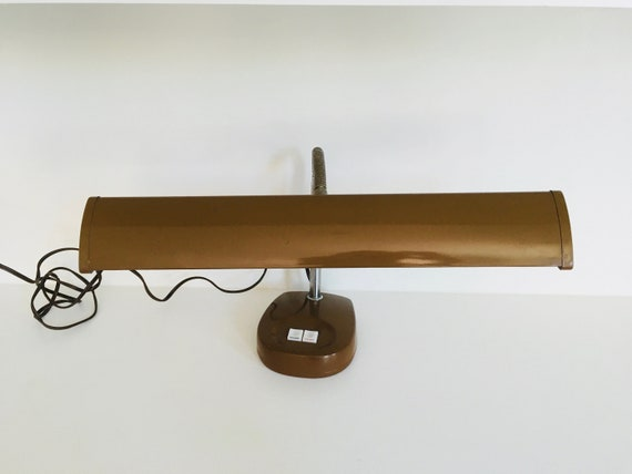 Vintage MCM Industrial Gooseneck Metal Desk Lamp