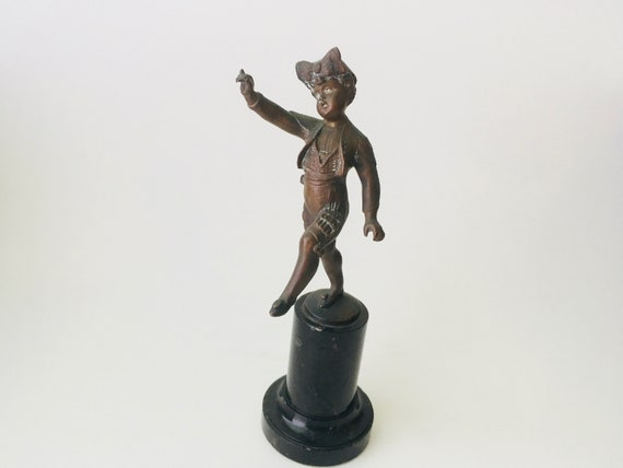 Vintage Bronze Statue Of A Girl