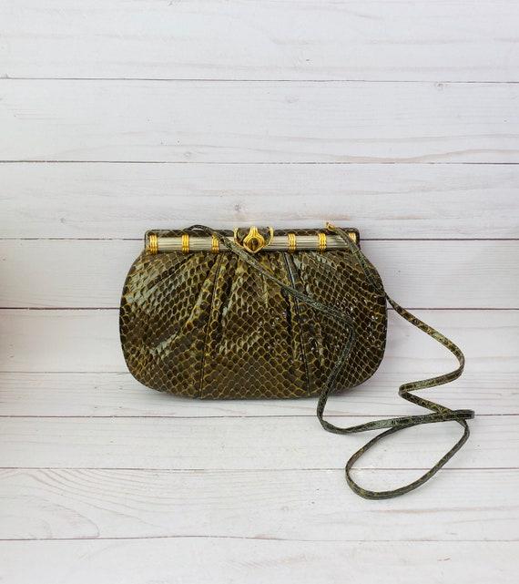 Vintage Judith Leiber Snakeskin Purse/Snakeskin Purse/Evening Bag