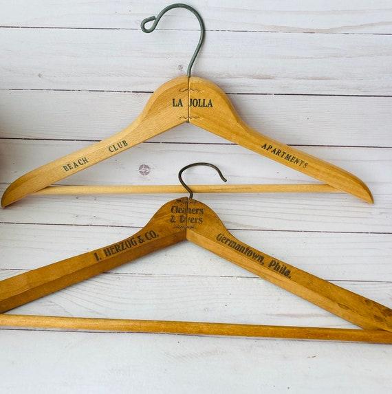 Vintage Wooden Hotel Hangers--Decorative Hangers--Photoshoot Hangers
