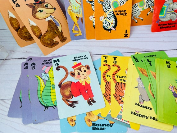 Animal Rummy Deck Of Cards--Whitman Rummy Cards