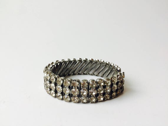 Vintage Made In Japan Rhinestone Bracelet