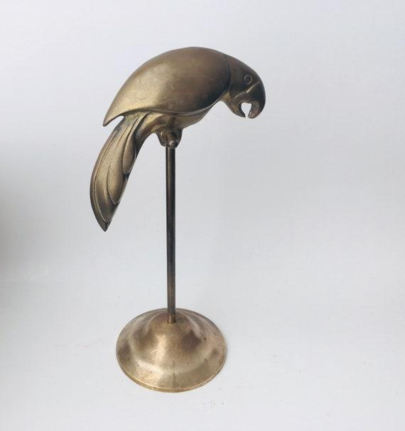 Vintage Brass Parrot