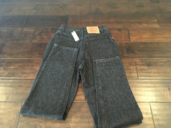 Vintage Women's High Waist Levi's 17501 Black Jeans Size 5