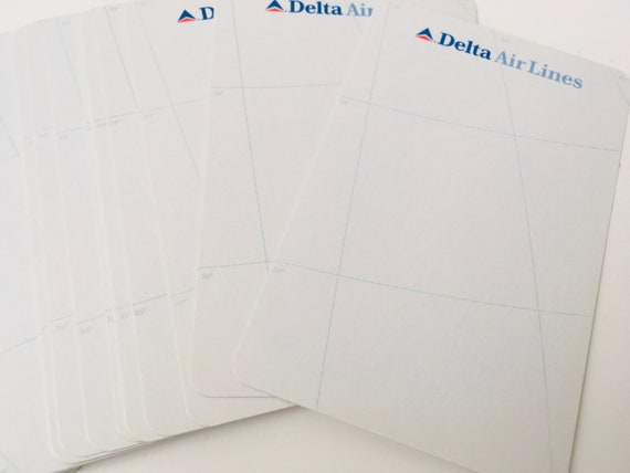 Vintage Delta Air Lines Deck Of Cards