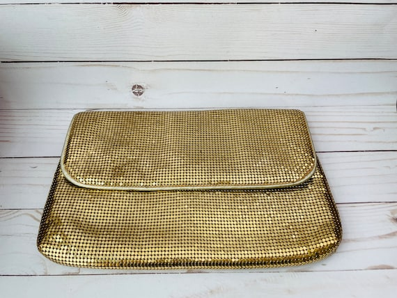 Vintage Gold Mesh Clutch