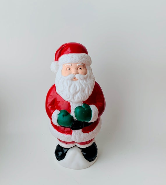 1995 Empire IND Plastic Santa - 90s Christmas Decor
