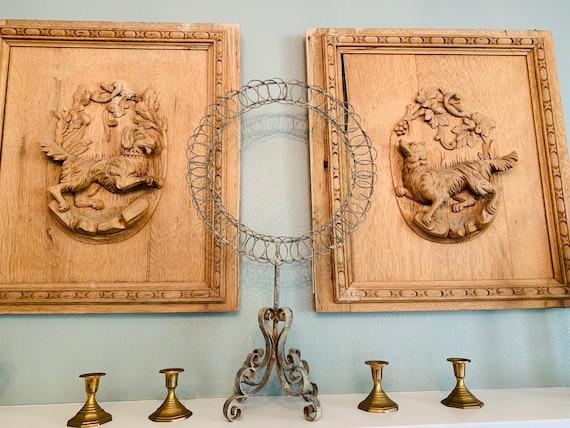 Vintage Set Of 4 Brass Candlestick Holders