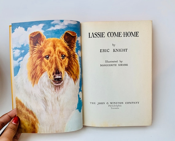 1945 Lassie Come Home Book by Eric Knight