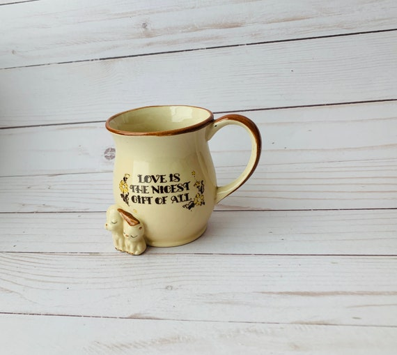"""Vintage """"Love Is The Nicest Gift Of All"""" Mug"""