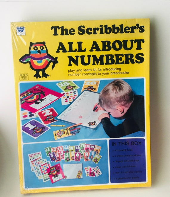 "Vintage 1978 Whitman ""The Scribbler's All About Numbers"" Kit"