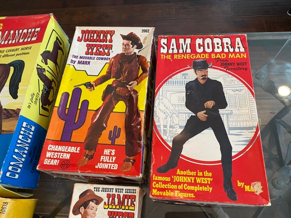 Lot of Vintage Marx Toys Johnny West Action Figures