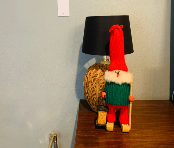 Vintage Christmas Wooden Tomte Gnome, Made In Sweden