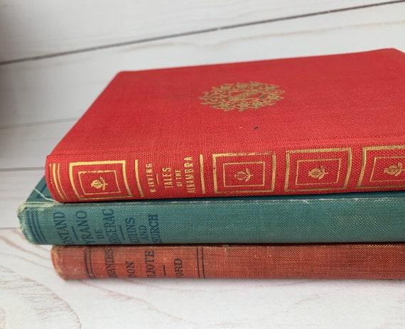 Lot of 3 Mini Vintage Decorative Books
