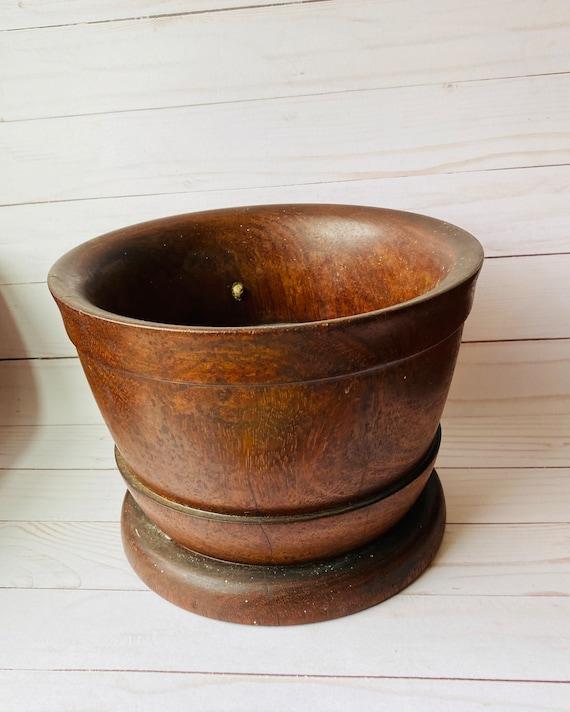 Wood Planter Pot- Wood Pot- Wood Bowl