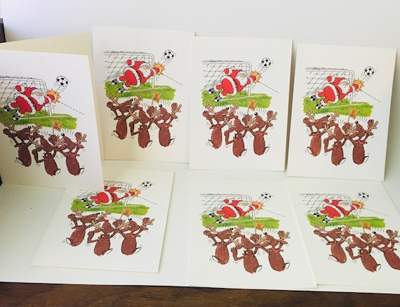 Set Of 80s The Duck Press Christmas Cards