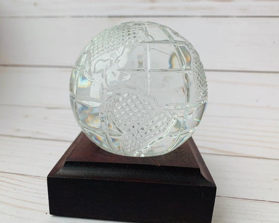 Waterford  Globe Paperweight- Waterford- Paperweight