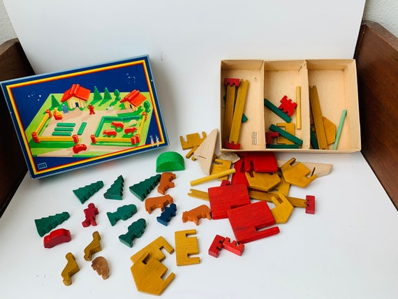 Vintage My Swiss Chalet Wooden Toy