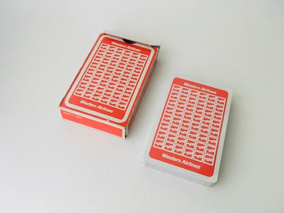 Vintage Sealed Western Airlines Deck Of Cards