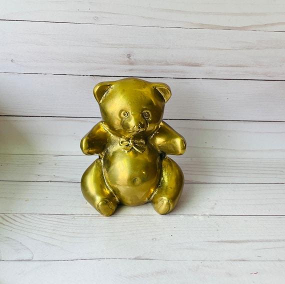 Brass Bear, Vintage Animal Bookend