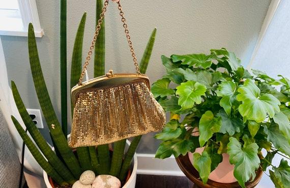 Vintage Whiting & Davis Mesh Bag--Gold Mesh Bag