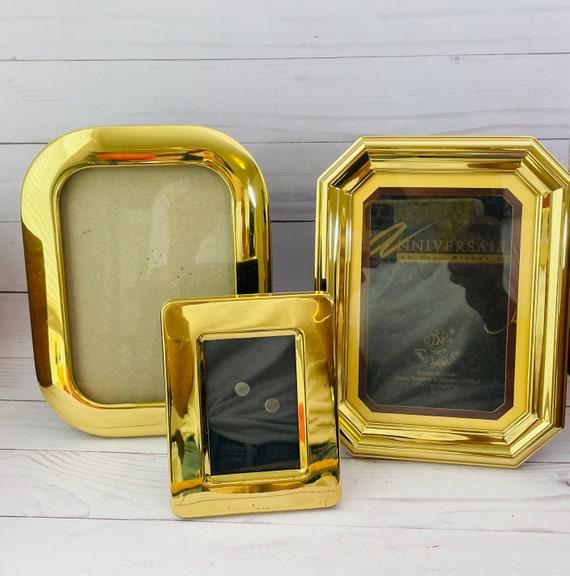 Lot of 3 Vintage Brass Frames--Set of Gold Frames
