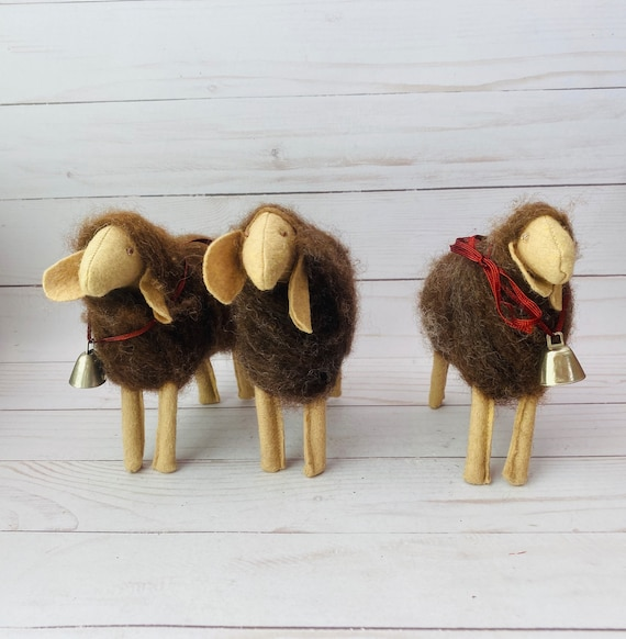 Set of 3 Wooly Sheep