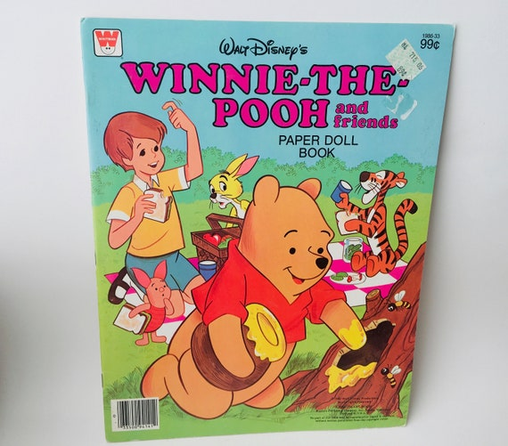 "1980 Whitman Books ""Winnie The Pooh & Friends"" Paper Dolls Book"
