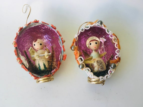 Pair Of MCM Ornaments Made In Japan