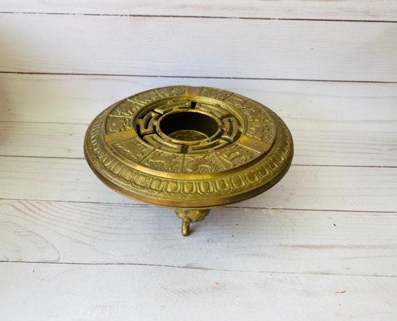 Brass Chinese Zodiac Ashtray--MCM Ashtray--Chinese Zodiac--Chinoiserie