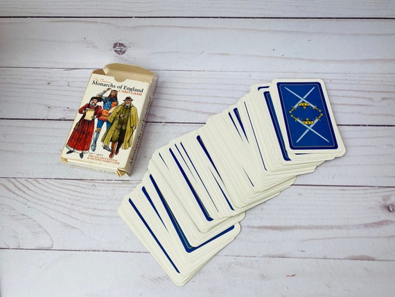 1991 The Famous Monarchs Of England Card Game--Monarchy Cards--Royalty