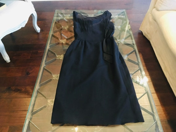 Vintage Gay Gibson Black Formal Dress Size 0