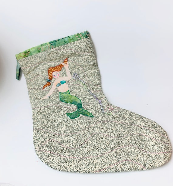 Christmas Stocking - Vintage Mermaid