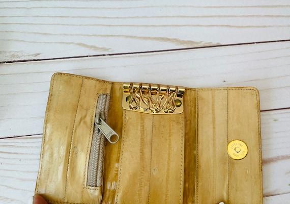 Vintage Eel Skin Key Holder/Key Holder/Eel Skin Key Case Wallet/Eel Skin/Made In Korea/Vintage Key Holder/Vintage Key Wallet