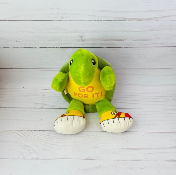 Vintage Inspirational Turtle Plush Toy--Inspirational Gift--Turtle Gift