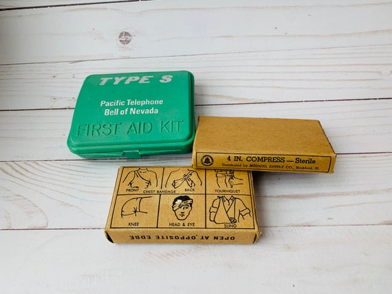 Vintage Pacific Telephone First Aid Kit