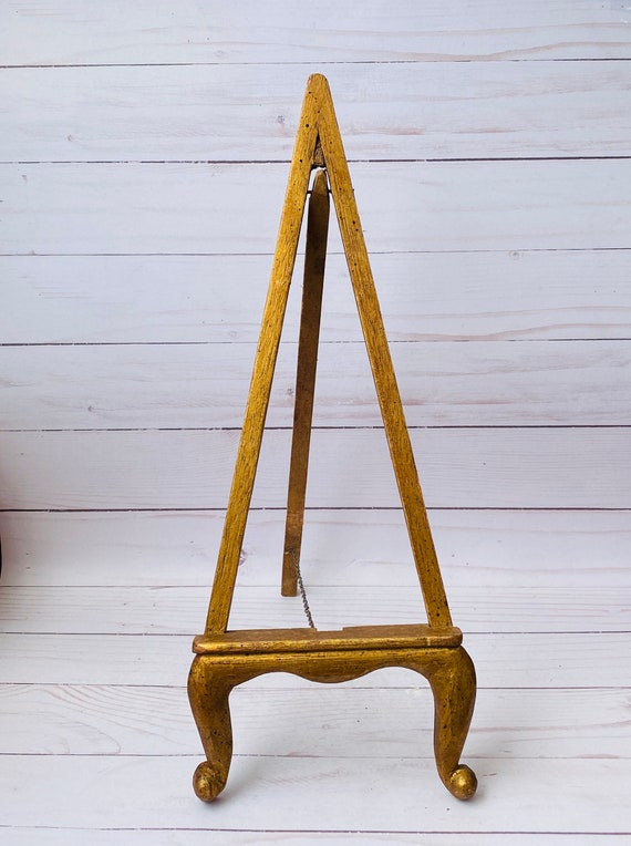Vintage Wood Photo Easel- Wood Photo Frame Easel