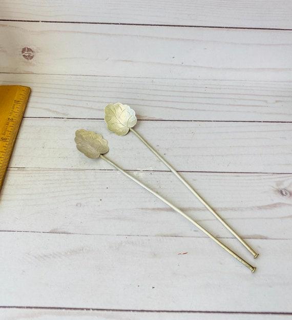 Vintage Pair Of Serling 925 Cocktail Spoons- 925 Sterling Spoons-925 Barware