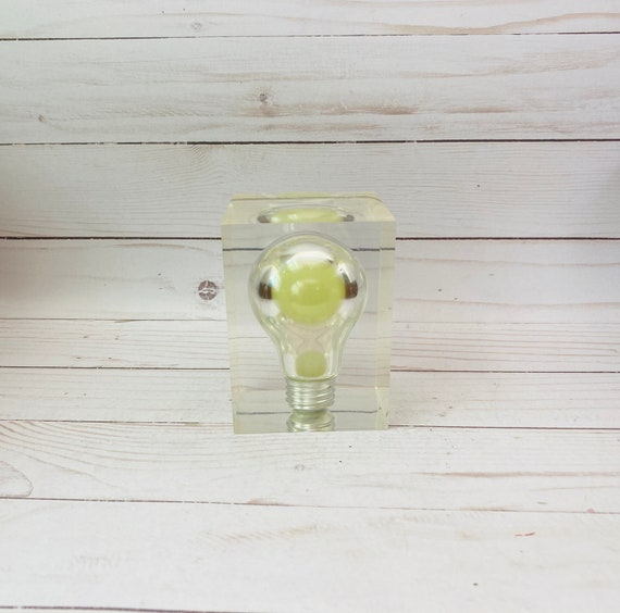 Pop Art Glow In The Dark Lucite Lightbulb