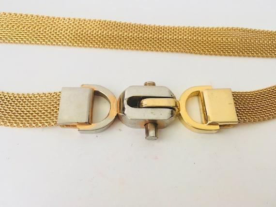 Vintage Gold Tone Mesh Belt