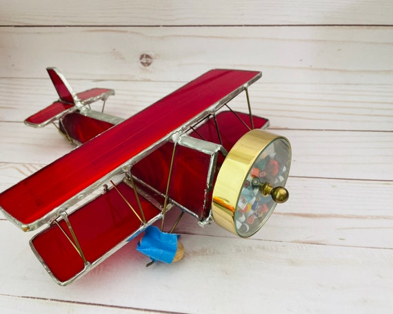Stained Glass Airplane Kaleidoscope--Airplane Toy